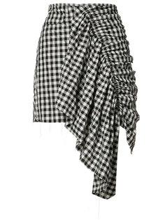 checked asymmetric skirt Marquesalmeida