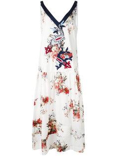 платье с цветочным узором и вышивкой Antonio Marras