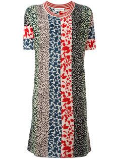 трикотажное платье лоскутного кроя Sonia Rykiel