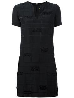 платье с необработанными краями Versace Jeans