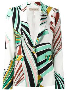 пиджак с абстрактным принтом Emilio Pucci