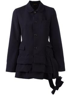 приталенная куртка с многоярусной отделкой Comme Des Garçons