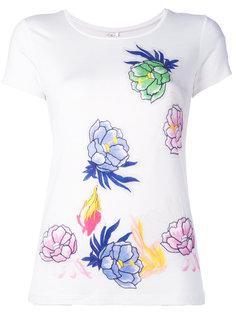 футболка с цветочным принтом Blumarine