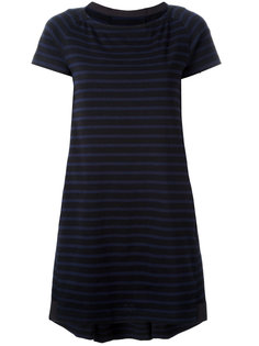 striped A-line dress Sacai