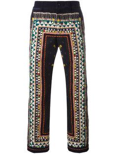 вельветовые брюки с орнаментом Sacai