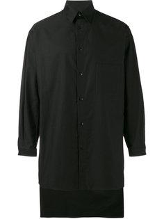 рубашка с удлиненным подолом Yohji Yamamoto