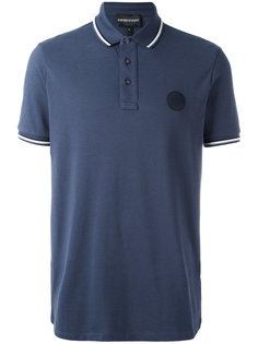 футболка-поло с заплаткой с логотипом Emporio Armani