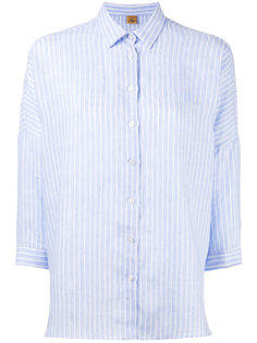 полосатая рубашка с рукавами три четверти Fay
