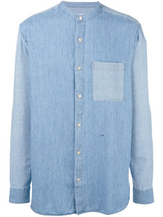 джинсовая рубашка с узким воротником-стойкой Closed