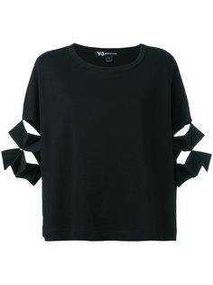 футболка с прорезями на рукавах Y-3