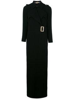 длинное платье с поясом Burberry