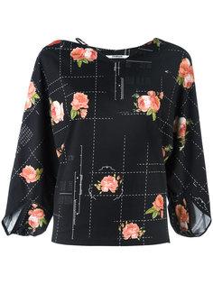 блузка с завязкой у шеи Chalayan