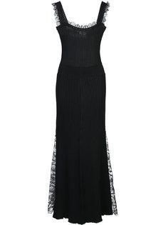 длинное платье в рубчик Adam Lippes