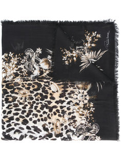 леопардовый шарф Roberto Cavalli