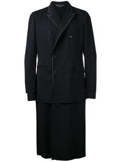 двухслойное двубортное пальто Comme Des Garçons Homme Plus