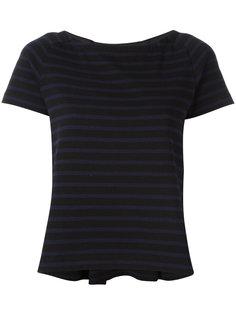 striped grosgrain trim T-shirt Sacai