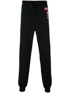 спортивные брюки с принтом фламинго Moschino