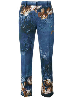 брюки с принтом ракушек Alberta Ferretti