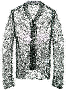 open knit buttoned cardigan Comme Des Garçons Homme Plus