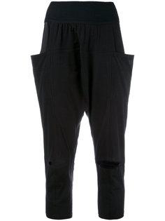 укороченные брюки с прорезями на коленях Y-3