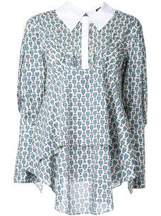 блузка с рисунком Jil Sander Navy