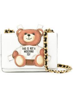 сумка с нашивкой в виде плюшевого медведя Moschino