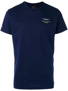 футболка с принтом на груди Hackett