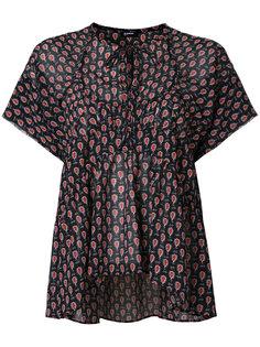 блузка с короткими рукавами Jil Sander Navy