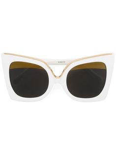 крупные солнцезащитные очки Linda Farrow