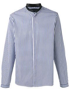 полосатая рубашка с контрастным воротником Juun.J