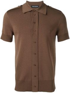 футболка-поло с пуговицами на плечах Neil Barrett