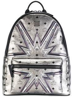 рюкзак с отделкой металлик MCM