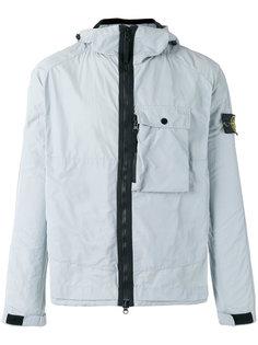 куртка с капюшоном и контрастной окантовкой Stone Island