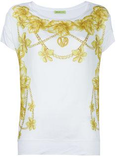 футболка с цветочным узором Versace Jeans