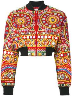 куртка бомбер с вышивкой Moschino