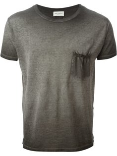 футболка с выцветшим эффектом Saint Laurent