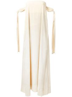длинное платье без бретелек Erika Cavallini