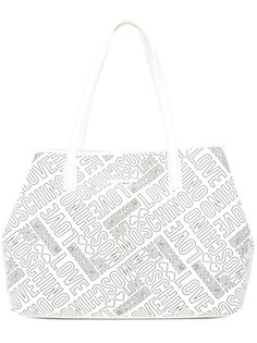 сумка-тоут с тисненым логотипом Love Moschino