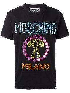 футболка с зеркальной вышивкой Moschino