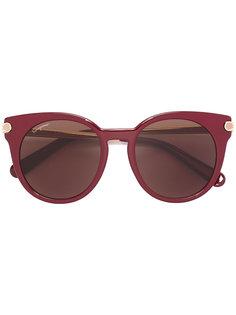 солнцезащитные очки с круглой оправой Salvatore Ferragamo