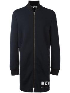 пальто-бомбер с принтом-логотипом McQ Alexander McQueen