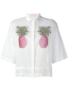 рубашка с принтом ананасов Giamba