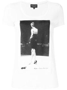 футболка с фото-принтом  Emporio Armani