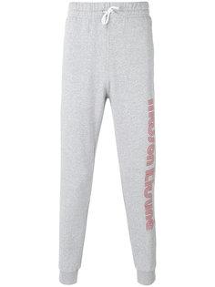 спортивные брюки с принтом логотипа Maison Kitsuné