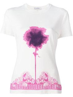 футболка с принтом цветка Versace Collection