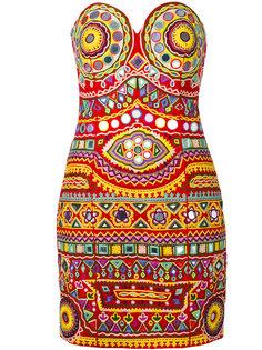 платье мини с вышивкой Moschino