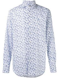 рубашка кроя слим с принтом бабочек Canali