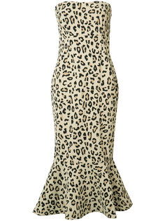 animal print strapless dress Cinq A Sept