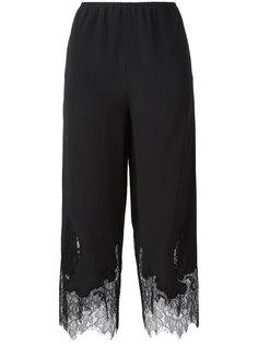 укороченные брюки с кружевной отделкой McQ Alexander McQueen