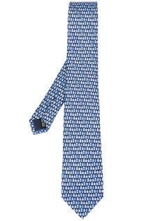 галстук с принтом домов Salvatore Ferragamo
